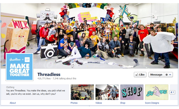25 40 brands using Timeline Cover Photos on Facebook Pages