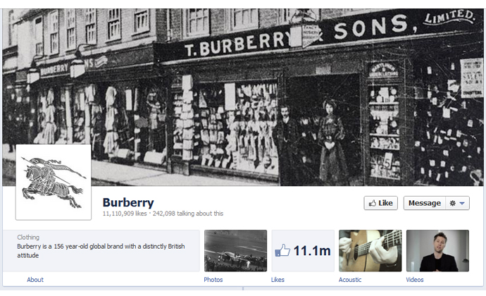 30 40 brands using Timeline Cover Photos on Facebook Pages