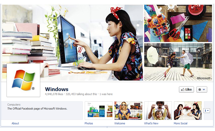33 40 brands using Timeline Cover Photos on Facebook Pages