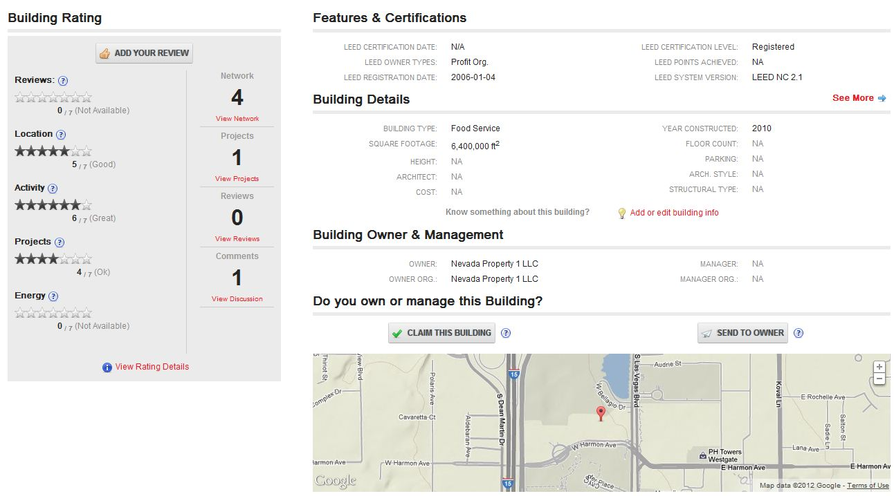 ratings Honest Buildings profiles every commercial building