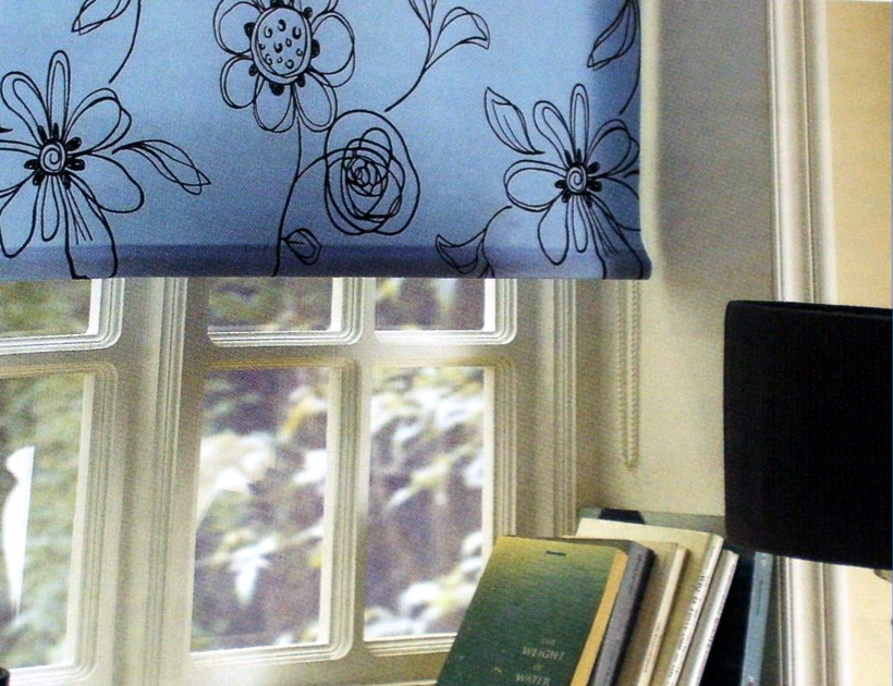 blue roller Bold patterned roller blinds are back: interior design trend