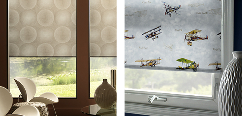 patterns Bold patterned roller blinds are back: interior design trend