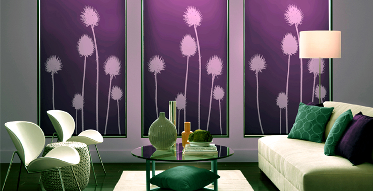 roller blinds Bold patterned roller blinds are back: interior design trend