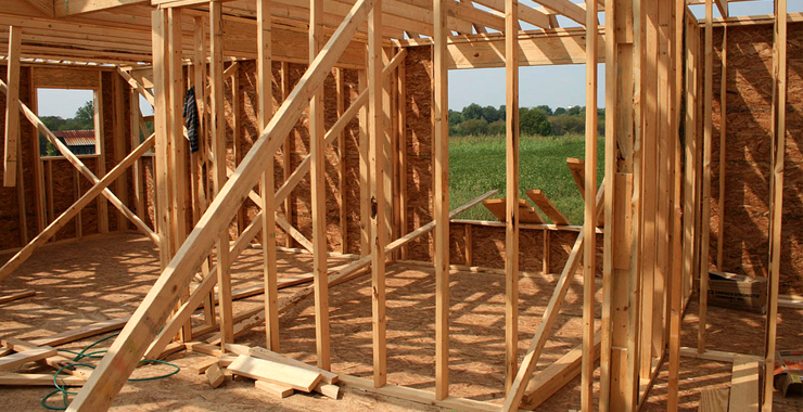 framing Home construction levels soar to four year high