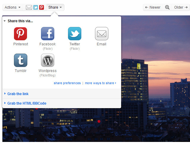 share bar Flickr, Pinterest team up, signal movement toward better attribution