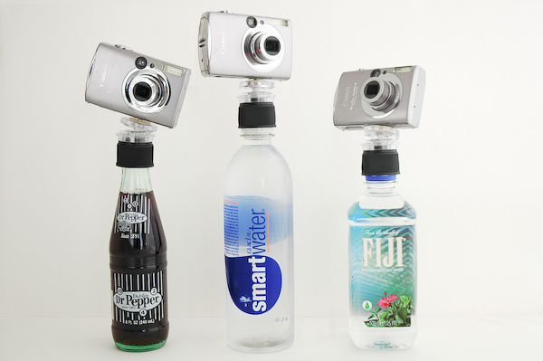cap1 How to turn any bottle into an iPhone or camera tripod