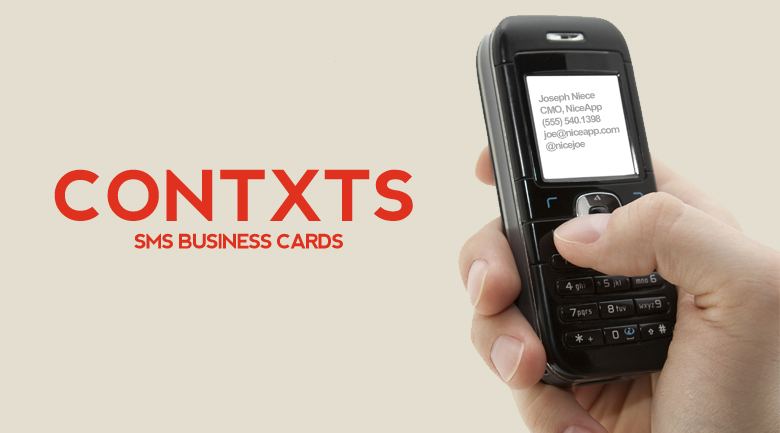 Contxts pros and cons of sms business cards the american genius ditching the traditional business card colourmoves
