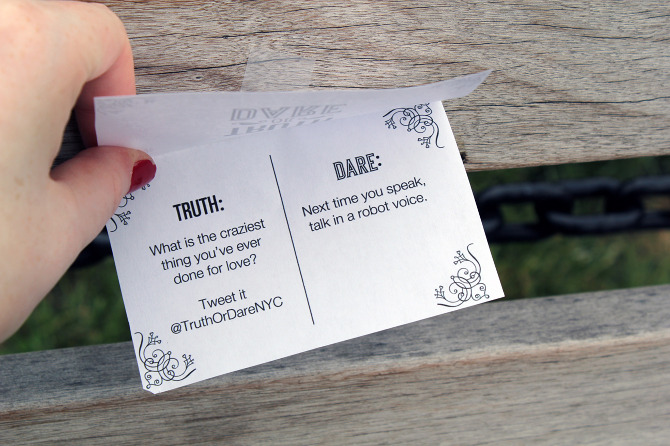 Copywriter s wild truth or dare experiment in nyc the american