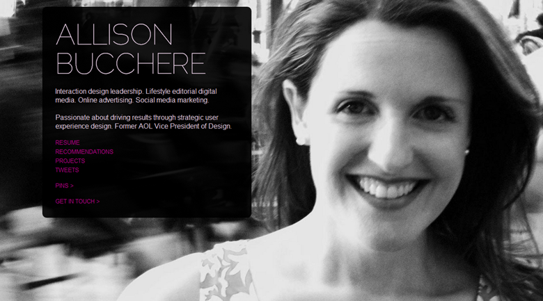 allison bucchere Inspiration: 10 marketers stylish Flavors.me profiles