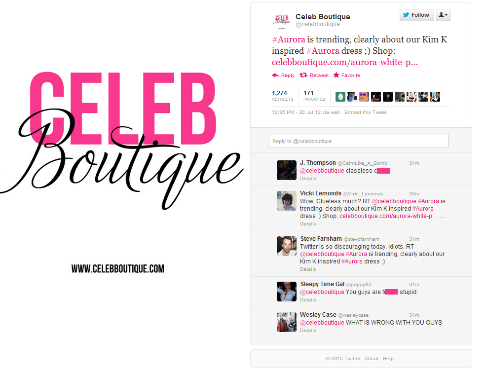 celeb boutique How ignorance can destroy your brand with one tweet