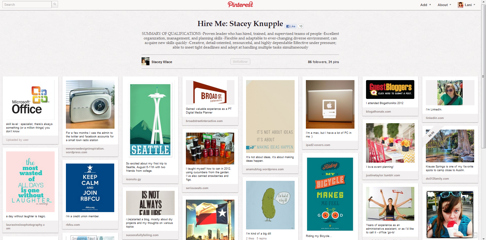 hire me pinterest board Wildly creative use for Pinterest: soliciting employers