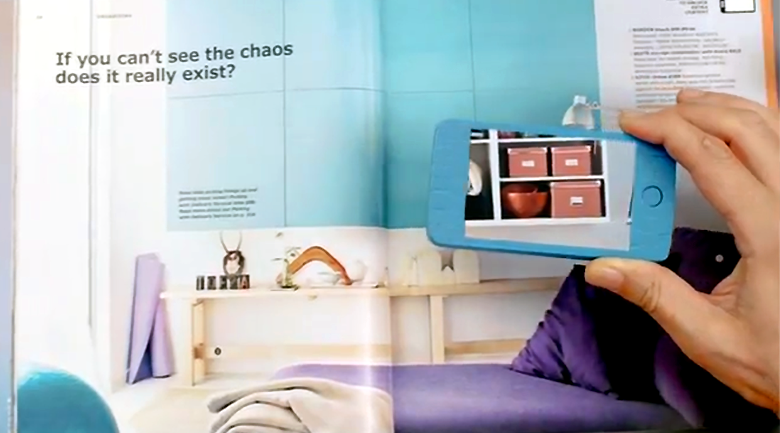 ikea bypasses qr codes catalog to use augmented reality the american genius. Black Bedroom Furniture Sets. Home Design Ideas