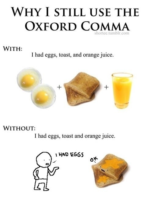 using the oxford comma