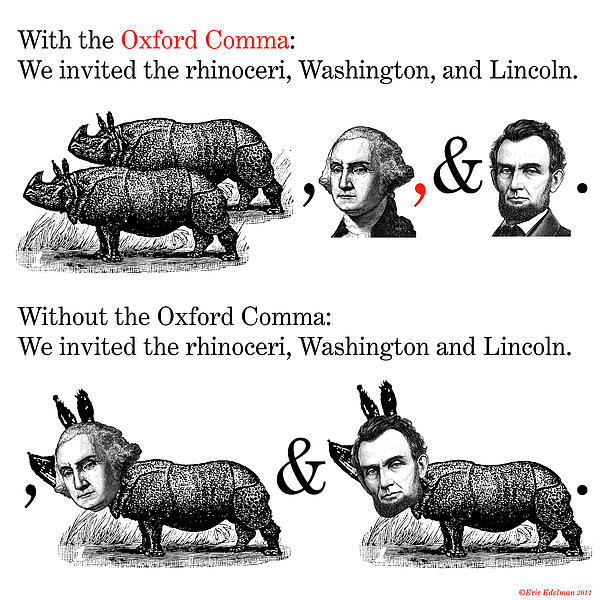 lincoln and the oxford comma