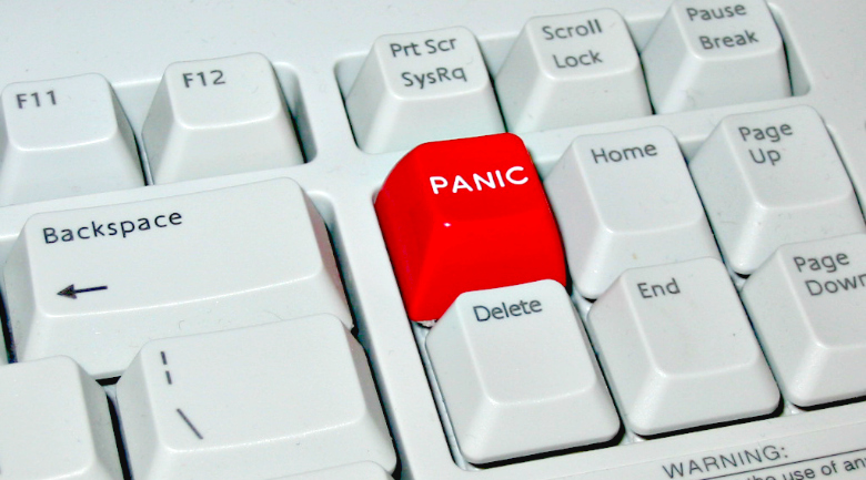 panic button Some cultures dont use the word crisis as a negative