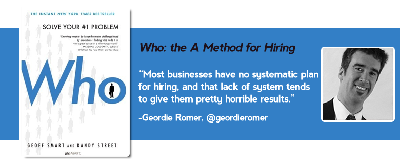 who method hiring Top 15 must read business books