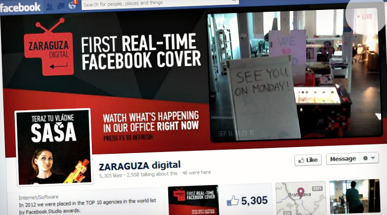 zaraguza Get your own live, updating Facebook Page cover photo