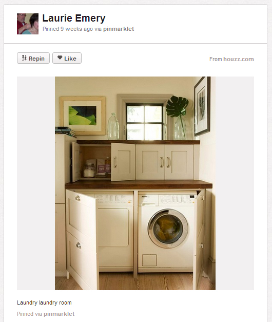 laundry room Home buyer must haves: Pinterest edition