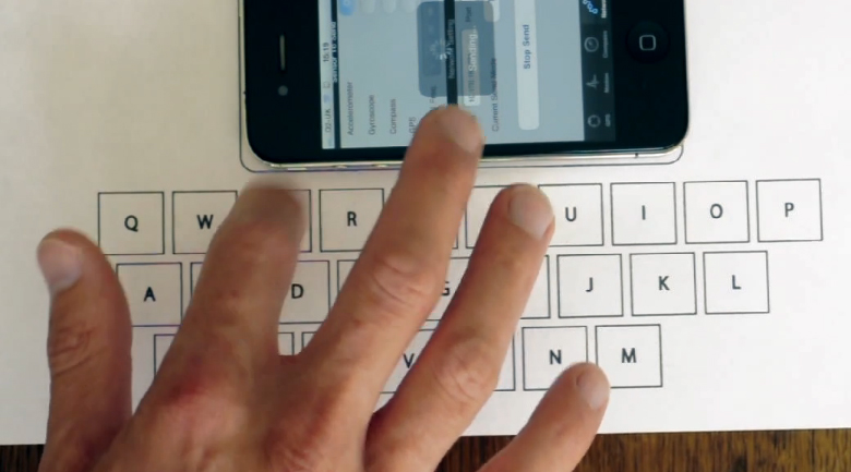 vibrative virtual keyboard