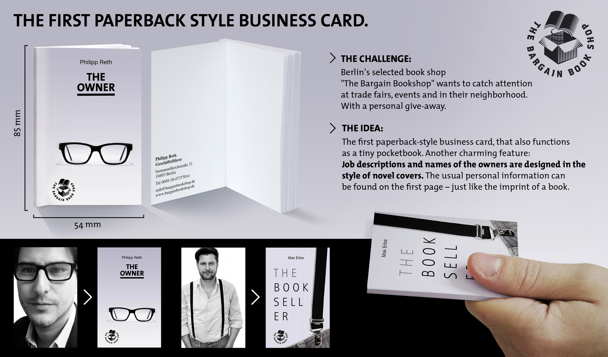 paperback business cards