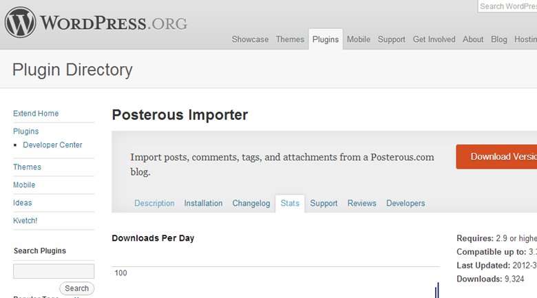 wordpress plugin Posterous shuts down in April: how to back up your account