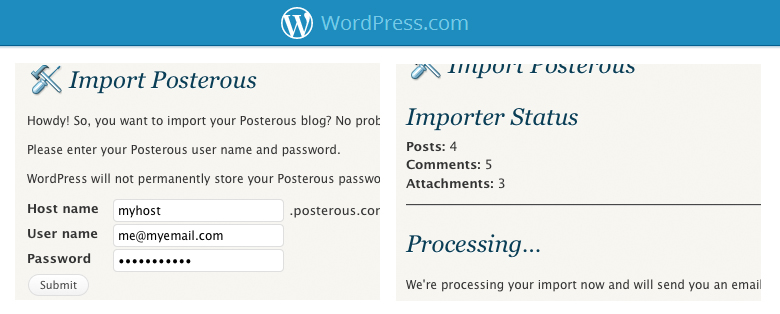 wordpress Posterous shuts down in April: how to back up your account