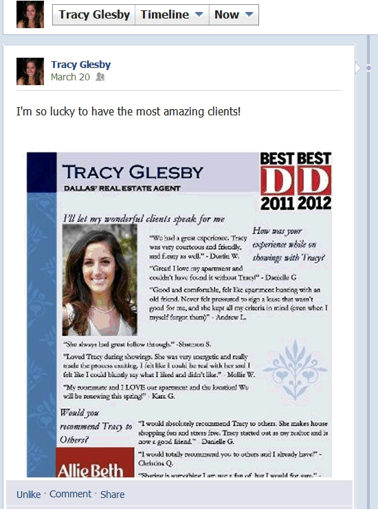 Realtor's claims of being D Magazine's best agent.