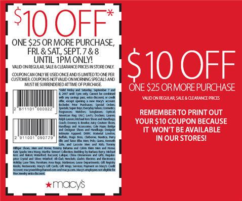 Macy's shoe sale coupons