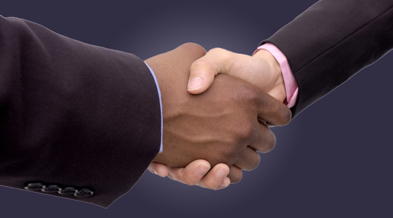 dispute resolution shaking hands