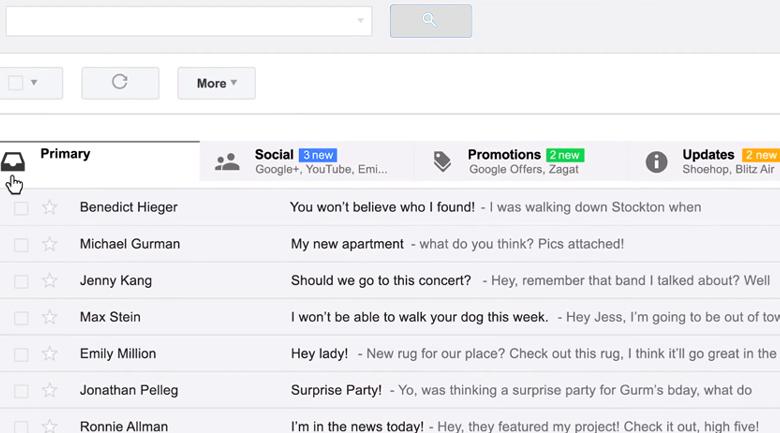 new gmail inbox