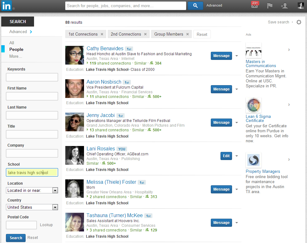 Two quick ways to engage fellow alumni on LinkedIn - The American ...