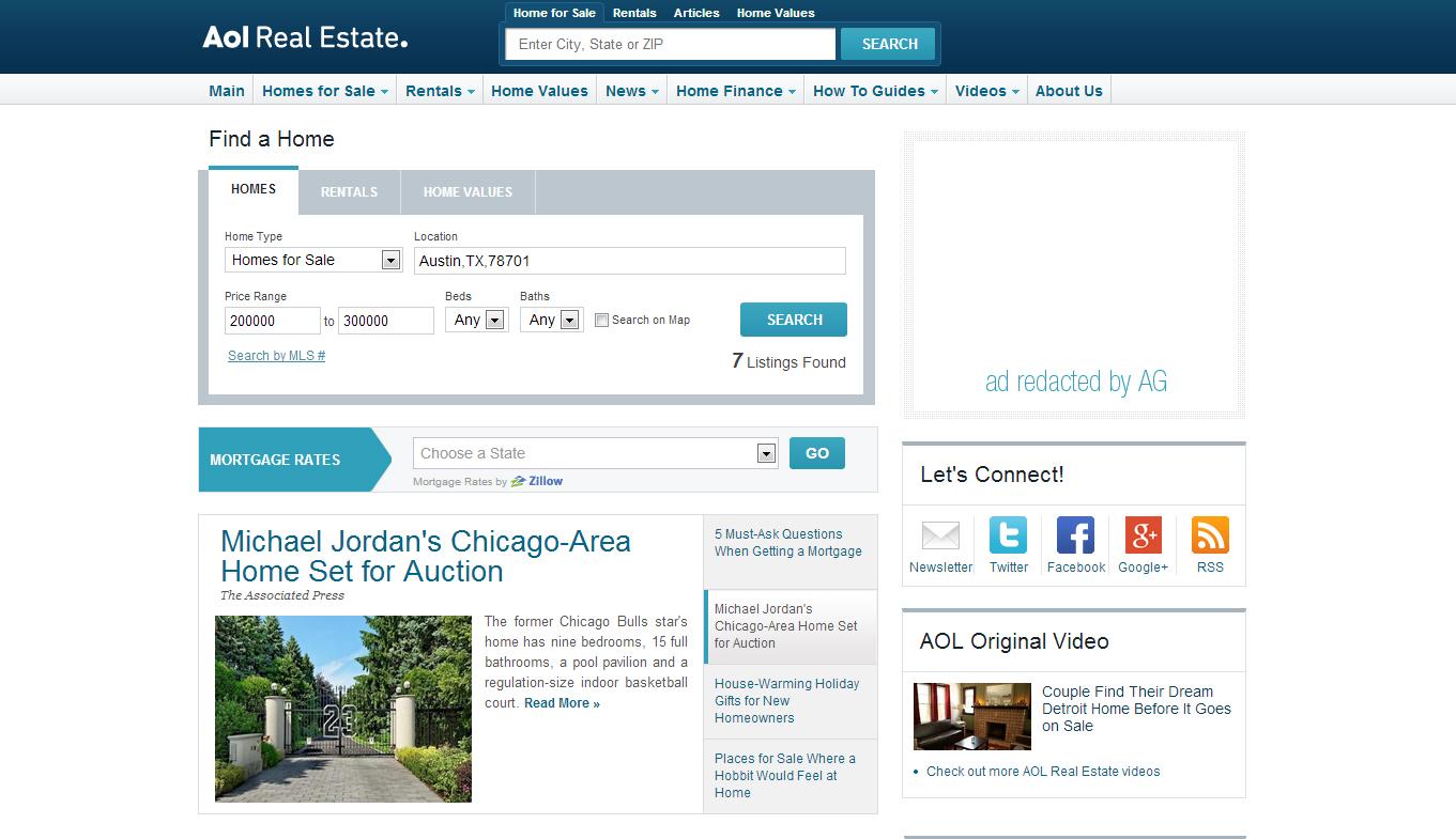 aol real estate move