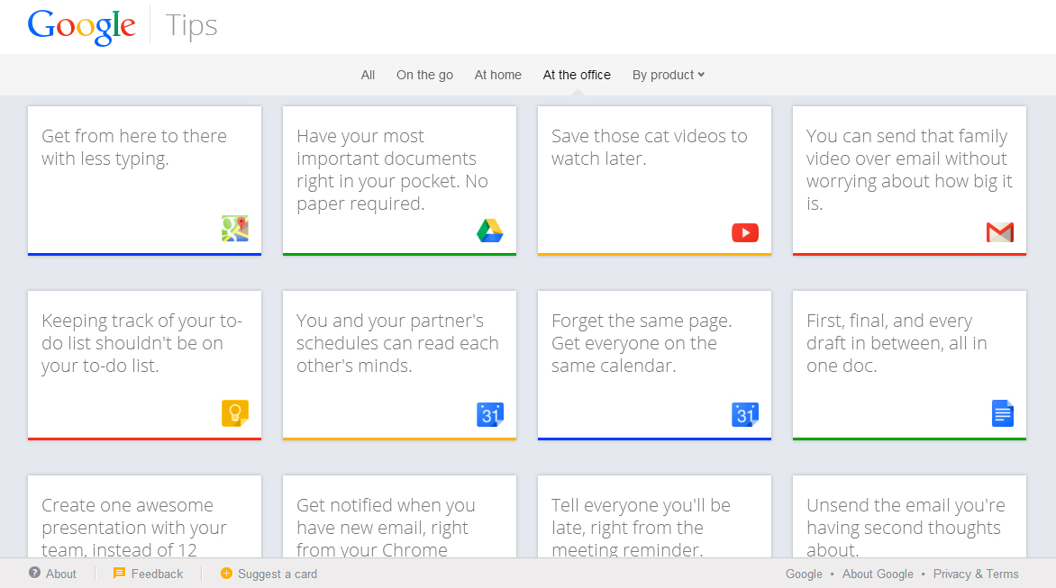 Google Tips site launches for all Google products