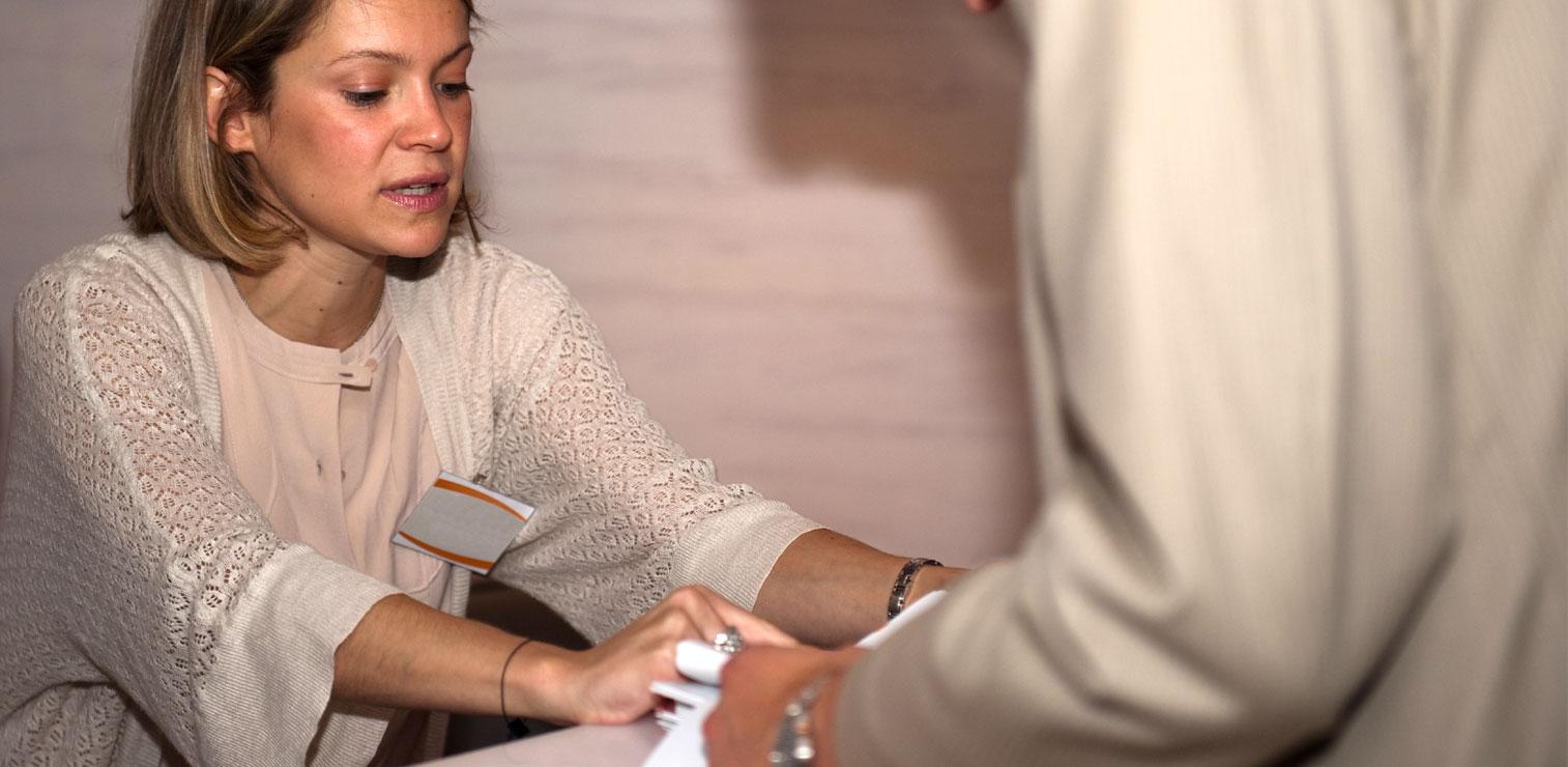 registration volunteer
