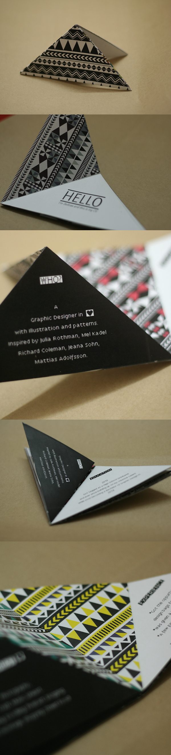 Candice Witpas And Dollcee Khattar: These Two Resumes Are Compact,  Foldable, And Innovative. The Novelty Of Being Able To Take A Resume To Go,  And In Fact, ...  Resume On Cardstock