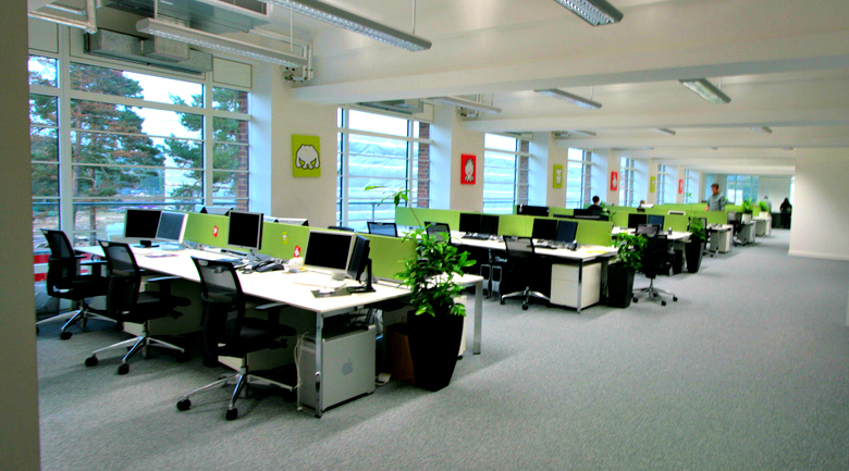 open office concept. open office space concept e