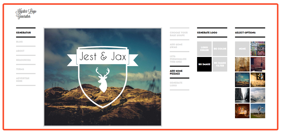 Here are some hipster related generators you 39 ve probably for Hipster logo generator