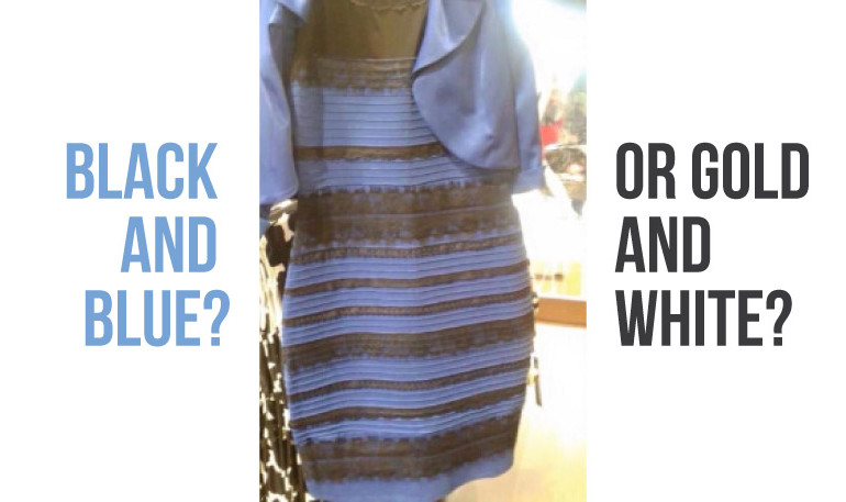 black and blue dress gold and white