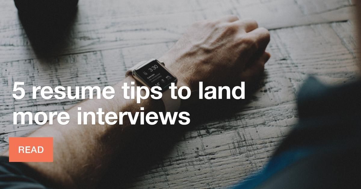 5-resume-tips
