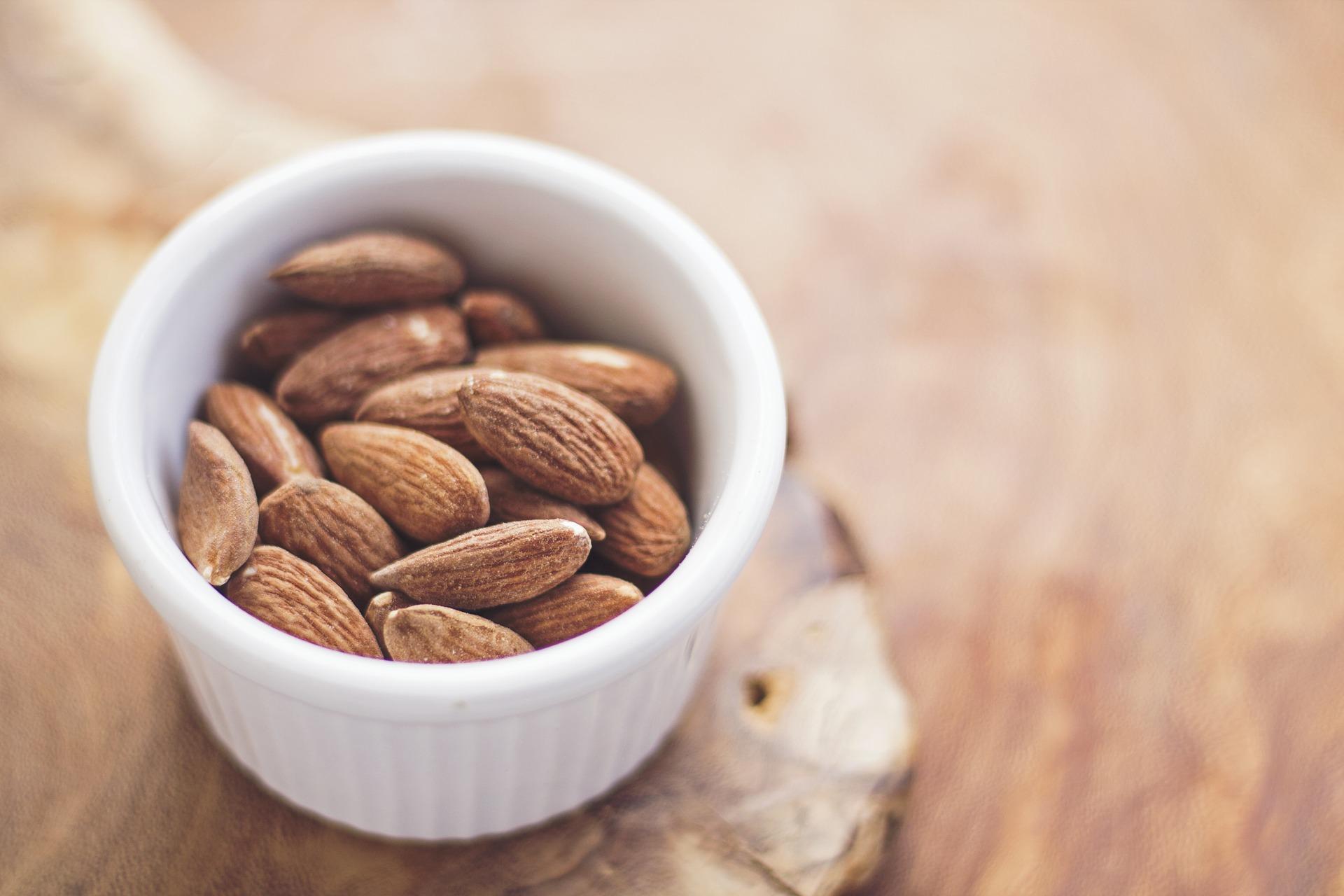 almonds nuts bowl
