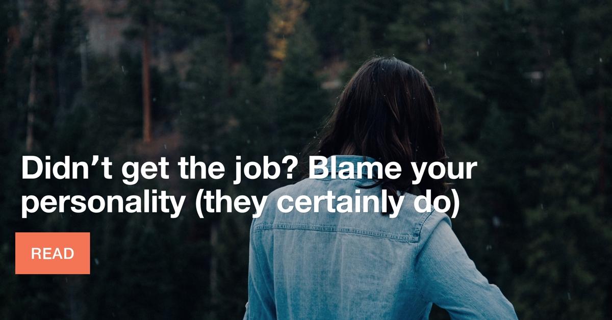 personality job hunting