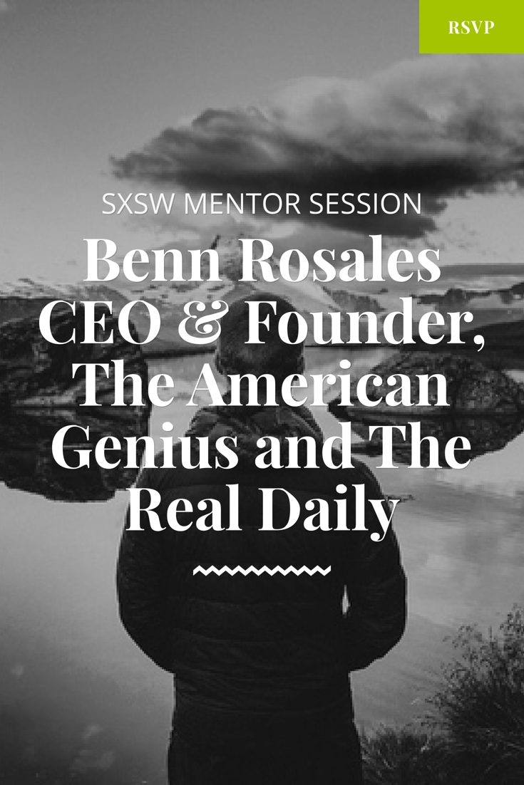 sxsw mentor session with benn rosales