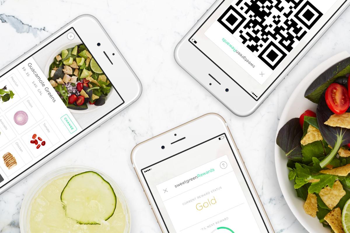 sweetgreen app cashless