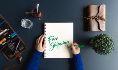 Free shipping written out