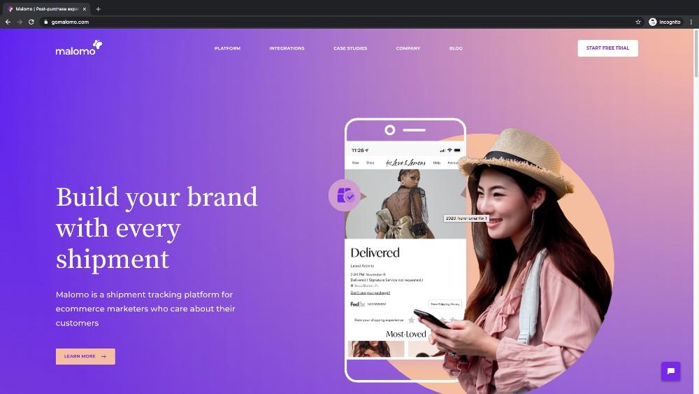 Malomo home page