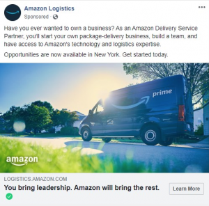Amazon partnership ad