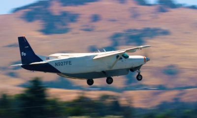 Pilotless plane owned by Reliable Robotics taking off.